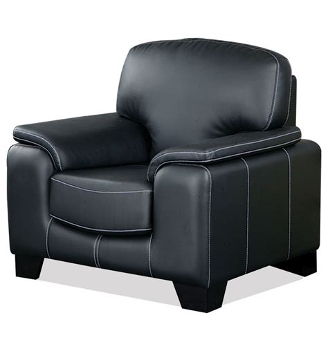 one seater sofa nilkamal amber black single seater sofa by nilkamal online