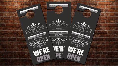 shop open door hanger template