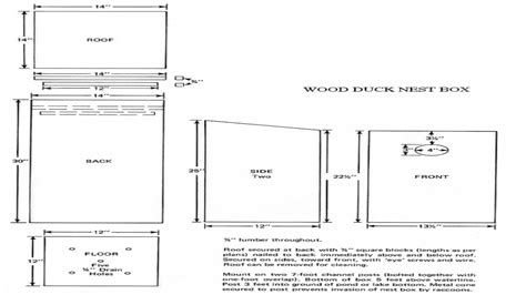 pattern for wood duck box box wood duck house plans wood duck box building plans