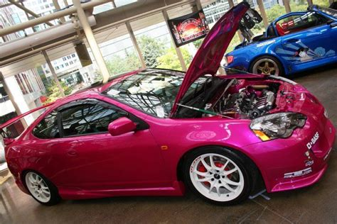 color car paint we saw keit s rsx painted in basf r m carizzma fuchsia pearl paint
