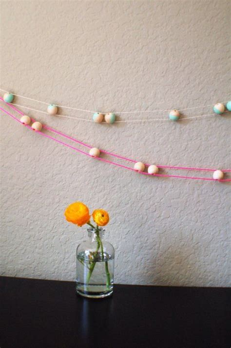 wooden bead garland new garland 1 quot wooden string or yarn can