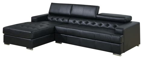 Oversized Leather Sectional With Chaise Modern Leather Sectional Sofa With Adjustable Headrest And