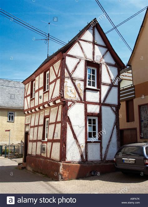 house to buy in germany house germany small old half timbered house in rhens rhineland stock photo