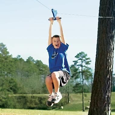 spring swings backyard zip   cabelas ziplining
