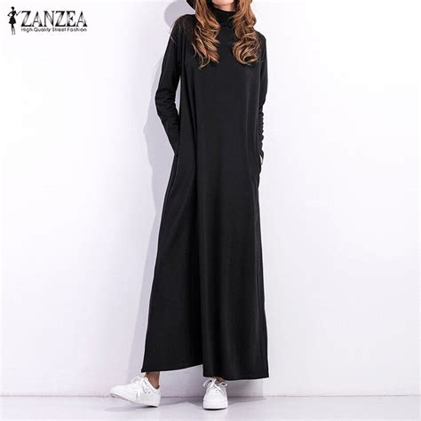 autumn dress  women black dress long sleeve turtleneck