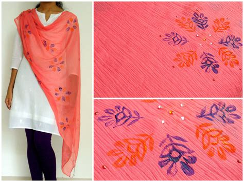 Handmade Articles For Sale - block printed dupattas for sale handmade gift items