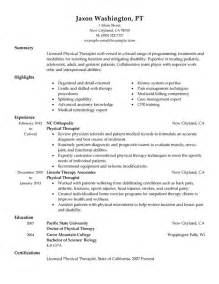 physical therapy resume exles unforgettable physical therapist resume exles to stand