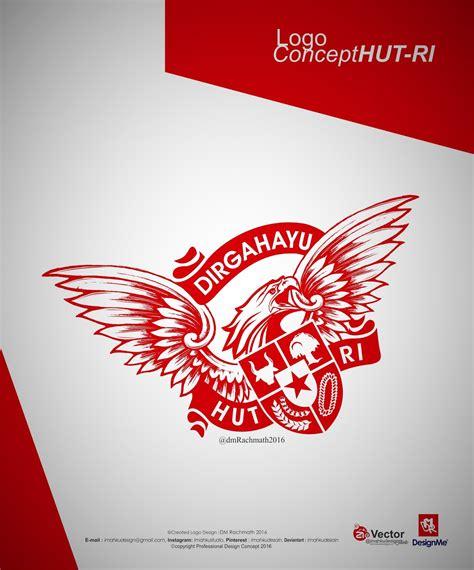 desain tema indonesia hut kemerdekaan republik indonesia logo konsep imahku desain