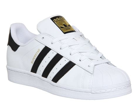 New Adidas Made In Black White 1 adidas superstar white black foundation hers trainers