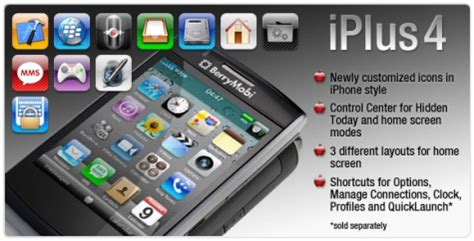 iphone themes for bb make your blackberry look like iphone 4 with iplus4 theme