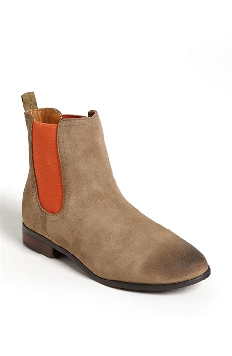 chelsea boot suede dv by dolce vita chelsea boot in brown taupe suede lyst