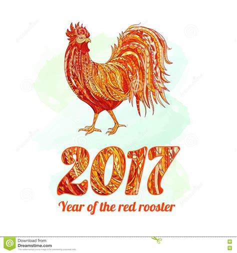 new year rooster element 2017 new year of the rooster vector