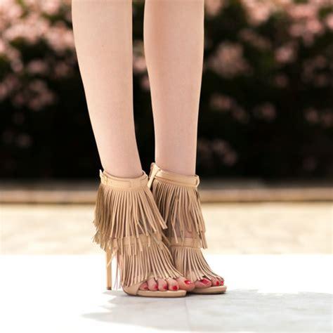 boho high heels shoes cicihot heels high heels fringe heels boho