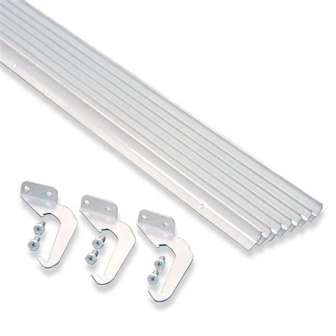 25 Foot Gutter by Rainhandler 5 Ft White Aluminum Gutter With Brackets