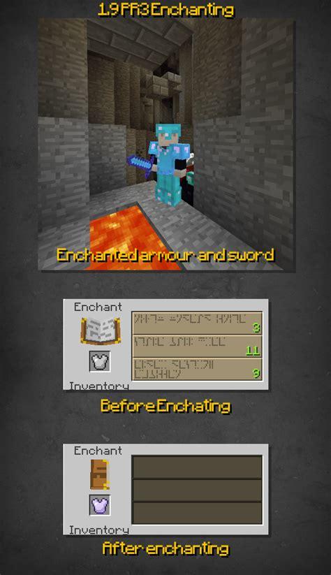 Minecraft Enchantment Table Recipe by Minecraft 1 9pre3 Changelog Minecraft