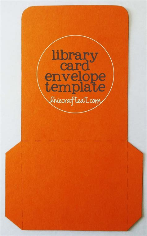 library card envelope template daily activity planner for live craft eat