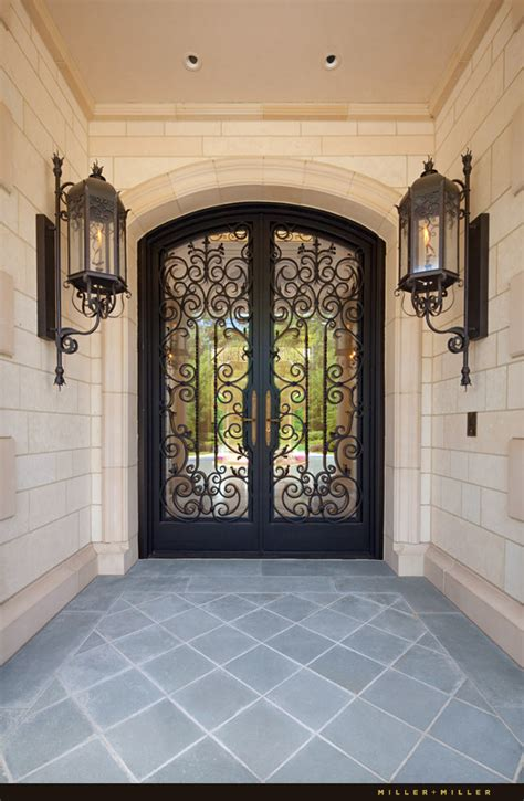 Iron Front Doors For Homes Custom Ornate Handmade Wrought Iron And Glass Front Entry