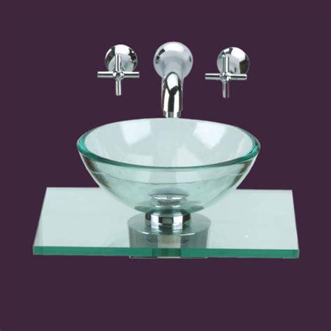 Modern Glass Bathroom Sinks Glass Sinks Clear Counter Mini Vessel Glass Sink 10891