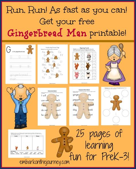 gingerbread man matching game printable the gingerbread man printable pack freebie