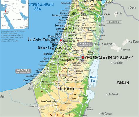 israel map today israel today map