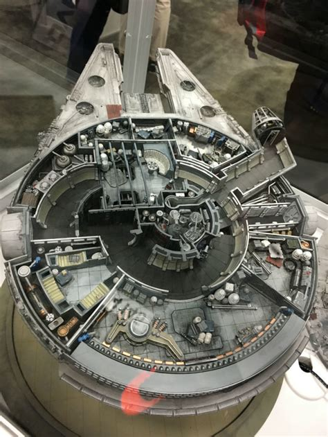 interior layout of millennium falcon crazy cutaway model of the millennium falcon takes you