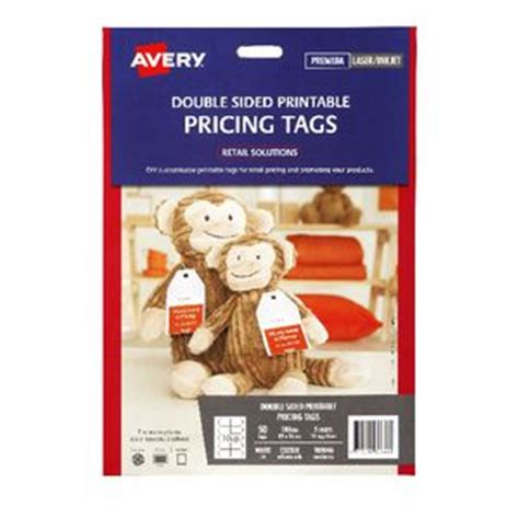 printable labels officeworks avery double sided printable pricing tags 89 x 51mm 50