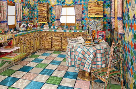 liza lou backyard artist spends 5 years covering entire kitchen in millions