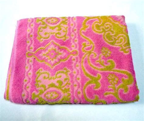pink and green bath towels 50 best images about vintage bath towels on terry o quinn blue bathrooms and