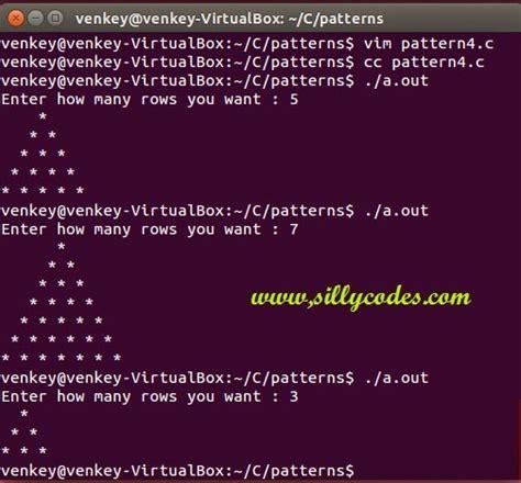 star pattern in c language pattern 4 c program to print pyramid star pattern