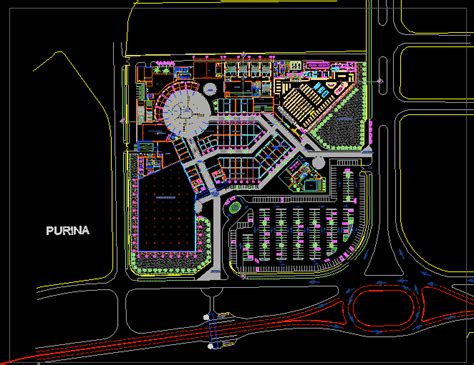 shopping centre chiclayo dwg full project  autocad