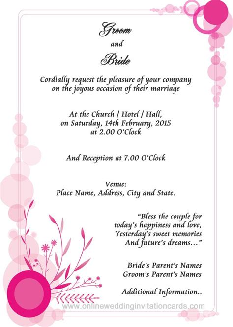 informal wedding invitation letter sle contoh invitation formal dan informal gallery invitation sle and invitation design