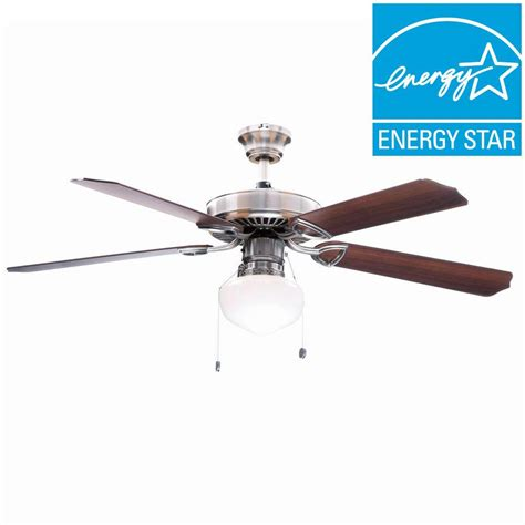hton bay glendale 52 in brushed nickel ceiling fan upc 792145356240 hton bay ceiling fans tri mount 52
