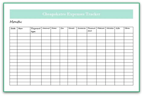 expense tracker debt free cashed up and laughing the cheapskates way to