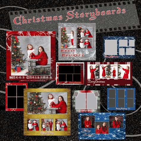 christmas templates for photoshop holiday photo storyboards digital photo christmas