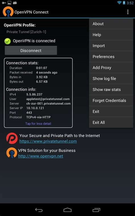 vpn apk openvpn connect android apps on play
