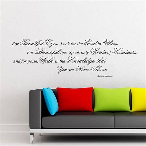 Audrey Hepburn Wall Sticker audrey hepburn quote wall stickers by parkins interiors
