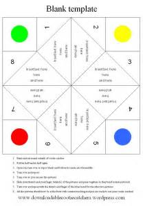 Paper Fortune Teller Template by Blank Template For Cootie Catcher Downloadable Cootie