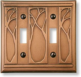 craftsman light switch plates art nouveau trees art nuveau arts crafts pinterest