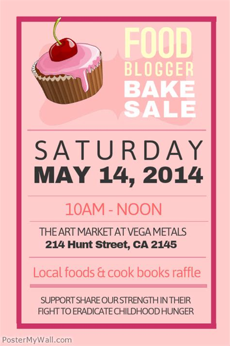 bake sale poster template postermywall