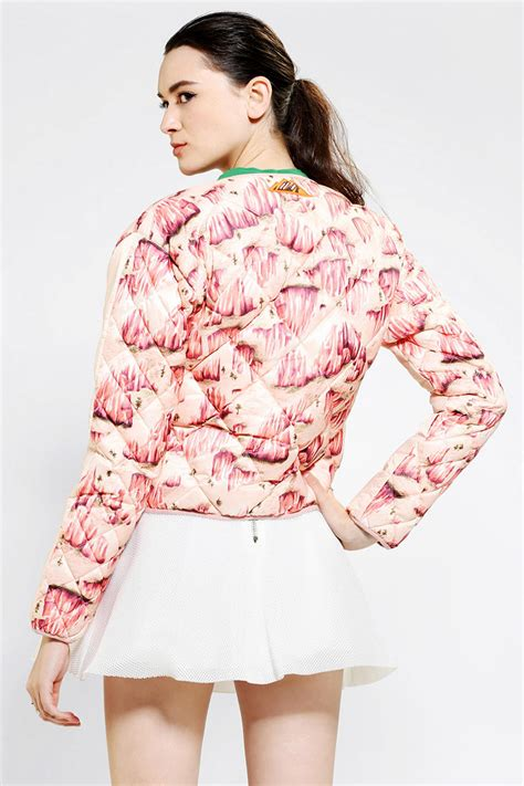 lyst outfitters adidas x opening ceremony quilted bomber jacket in pink