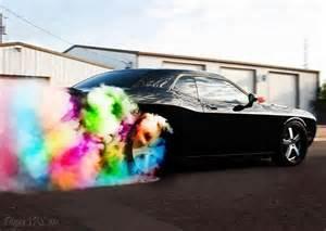 Rainbow Dodge Dodge Challenger Burn The Rainbow Cars