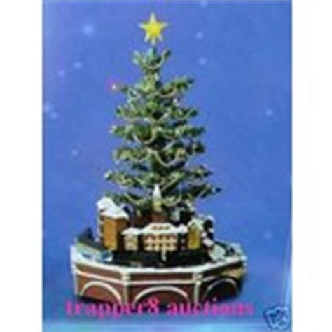polar express christmas tree train set polar express hallmark lighted tabletop tree 12 05 2007