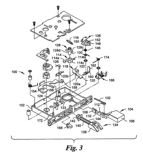baldwin mortise lock diagram patent us7007985 automatic deadbolt mechanism for a
