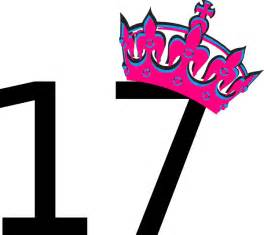 Pink tilted tiara and number 17 clip art at clker com vector clip