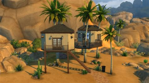 coconut house coconut tree house by keexz at mod the sims 187 sims 4 updates