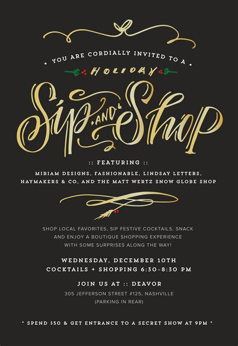 sip template nashville sip n shop tonight 187 lindsay letters blogs