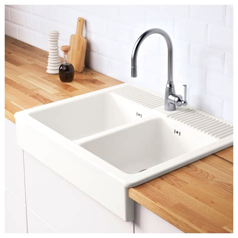 Evier Timbre Ikea by Domsj 214 Onset Sink 2 Bowls White 83x66 Cm Ikea