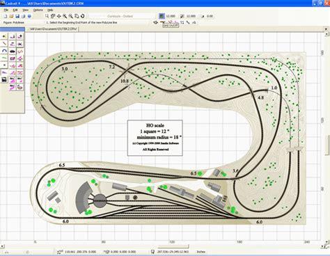 free ho train layout design software u shape layout trains pinterest model train model