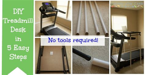how to make a laptop desk how to make a diy treadmill desk in 5 easy steps
