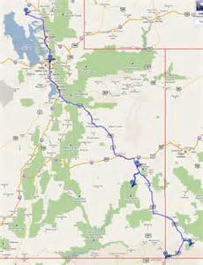utah colorado map the route americas 2011 expedition